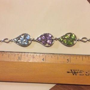 Jewelry - SS Real Peridot Amethyst Topaz Stones